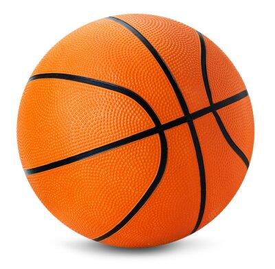 Adesivo bola de basquete isolado no fundo branco