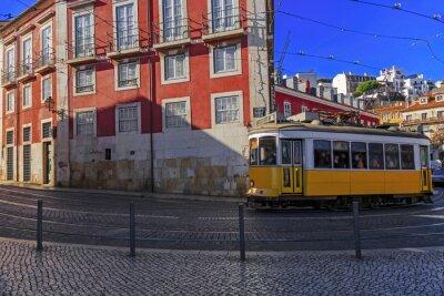Adesivo Bonde de Lisboa do vintage na rua da cidade