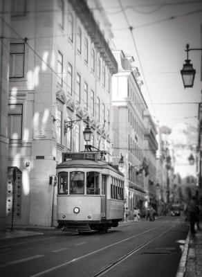 Adesivo Bonde em Lisboa, retro