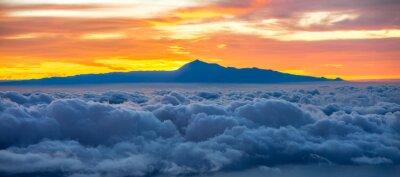 Adesivo Bonito, cloudscape, Tenerife, ilha, fundo, amanhecer, espanha