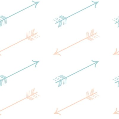 Adesivo Bonito cor pastel rosa azul setas seamless vetor padrão ilustração de fundo