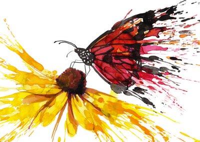 Adesivo Borboleta na flor