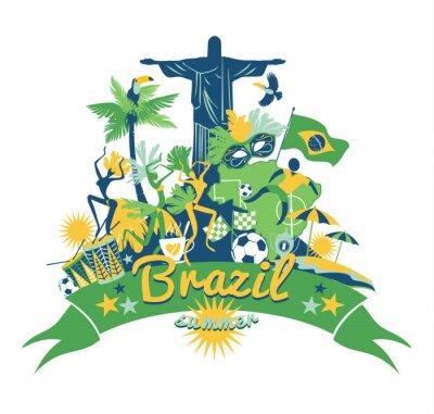 Adesivo Brasil fundo