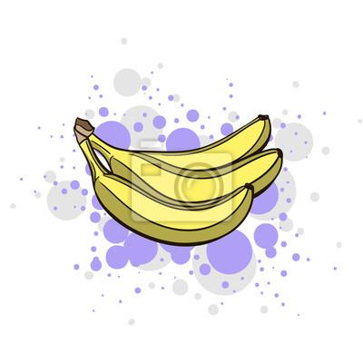 Adesivo Brilhante banana suculenta