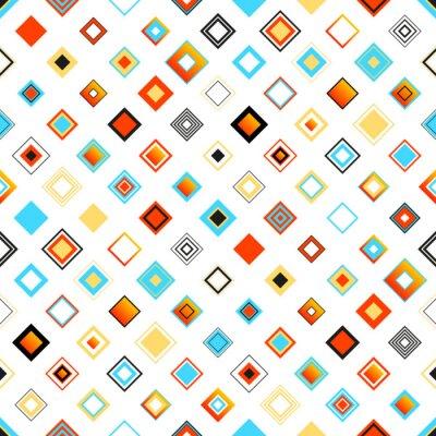 Adesivo Brilhante colorido, Padrão Geométrico Com Quadrados