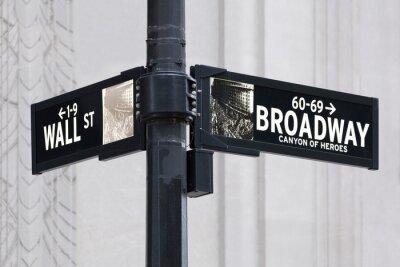 Adesivo Broadway nos Wall Street em Nova York