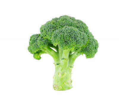 Adesivo Broccoli isolado no branco com trajeto de grampeamento