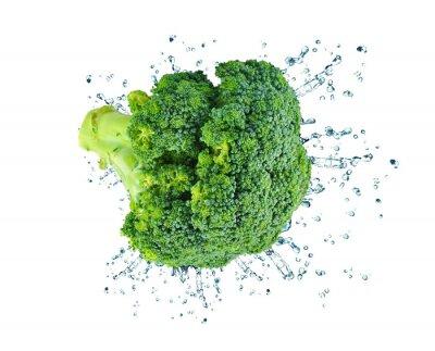 Adesivo brócolis respingo isolado