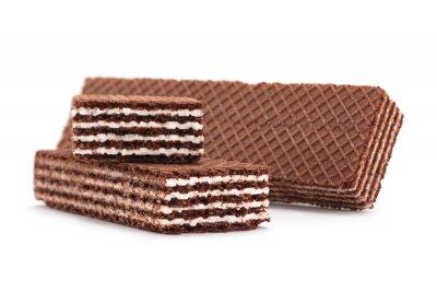 Adesivo Brown wafers stick isolado no fundo branco