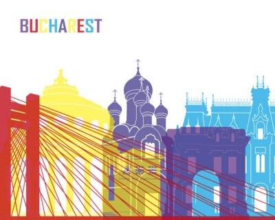 Adesivo Bucareste skyline pop