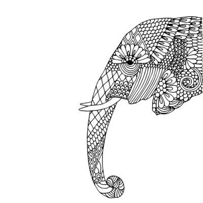 Adesivo Cabeça de elefante