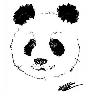 Adesivo cabeça de panda