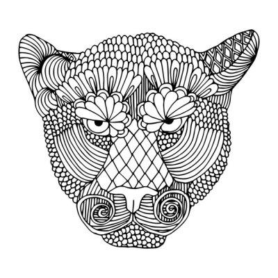Adesivo Cabeça do tigre
