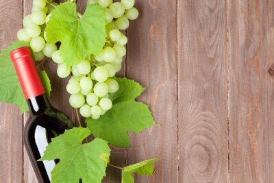 Adesivo Cacho, uvas, vermelho, vinho, garrafa