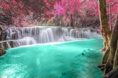 Adesivo Cachoeira profunda em Kanchanaburi