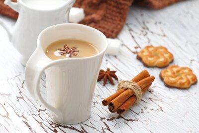 Adesivo Café latte e biscoitos de chocolate