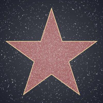 Adesivo Calçada da fama. modelo em branco estrela