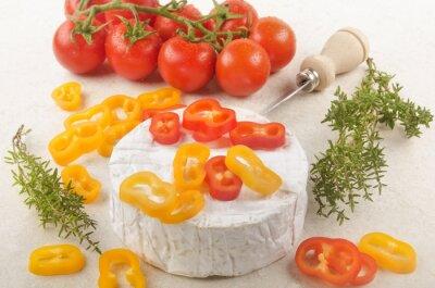 Adesivo Camembert com paprika, tomate e tomilho