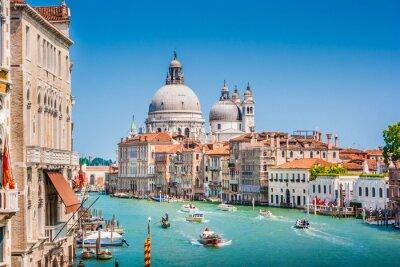 Adesivo Canal Grande com Basílica de Santa Maria della Salute, Veneza, Itália