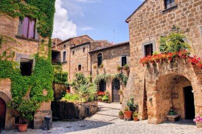 Adesivo Canto pitoresco de uma cidade pitoresca colina na Itália
