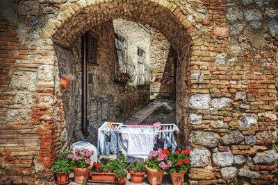 Adesivo Canto pitoresco em San Gimignano