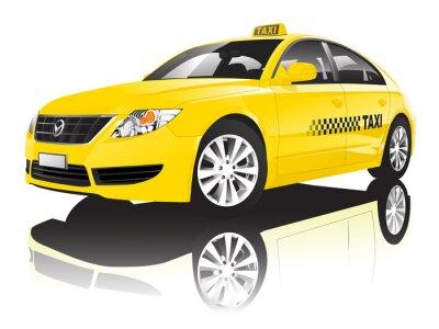 Adesivo Car Cab Taxi Public Shiny Performance Concept