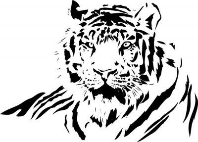 Adesivo cara de tigre