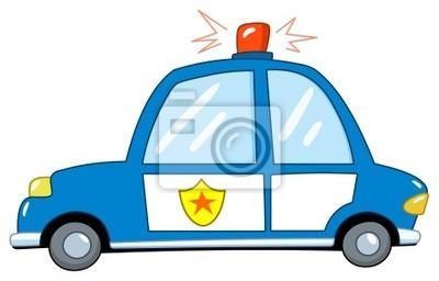 Carro De Policia Dos Desenhos Animados Laptop Adesivos Adesivos