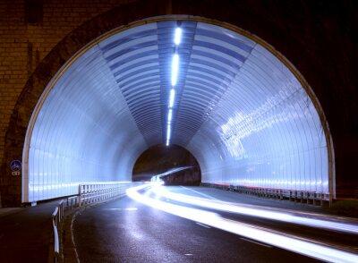Adesivo Carro, luzes, túnel, cidade, noturna.