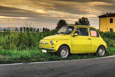 Adesivo Carro pequeno italiano do vintage Fiat Abarth