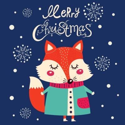 Adesivo Cartão de Natal com bonito