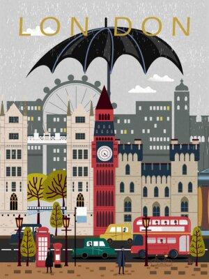 Adesivo Cartaz atraente do curso de Reino Unido