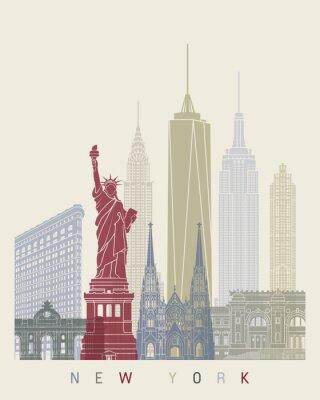 Adesivo Cartaz da skyline de New York