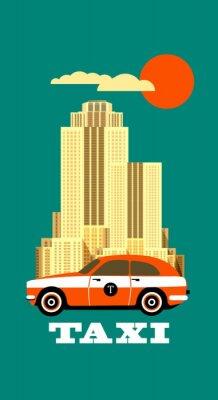 Adesivo Cartaz do táxi da cidade