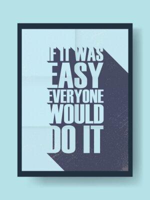 Adesivo Cartaz inspirador do negócio sobre o trabalho duro contra a preguiça no fundo do vetor do vintage. Mensagem de tipografia de sombra longa