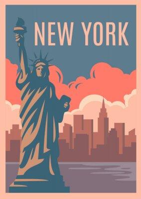 Adesivo Cartaz retro de Nova York.