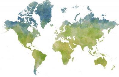 Adesivo Cartina mondo, disegnata Illustrata pennellate