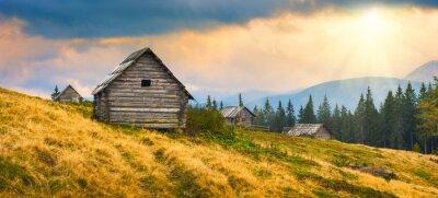 Adesivo Casas ucranianas de madeira