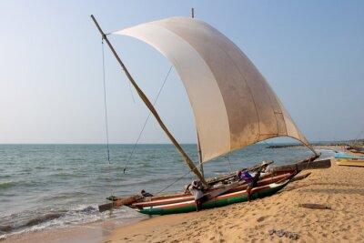 Adesivo Catamarã praia Negombo, Sri Lanka