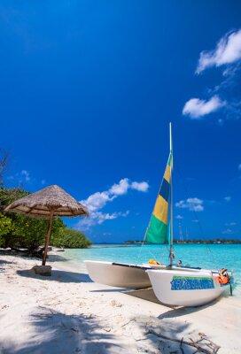 Adesivo Catamaran sobre uma praia tropical maravilhosa