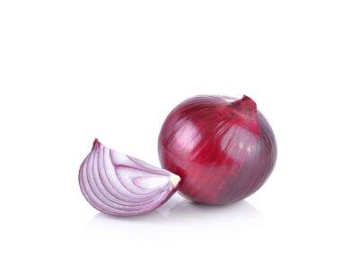 Adesivo Cebola vermelha no fundo branco