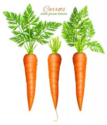 Adesivo Cenouras com folhas