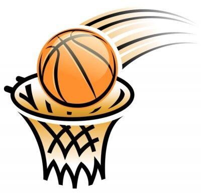 Adesivo cesta de basquete símbolo