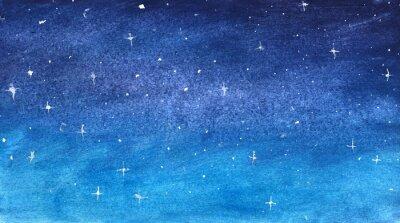 Adesivo Céu estrelado azul em aquarela