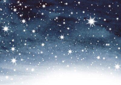 Adesivo Céu estrelado na aguarela