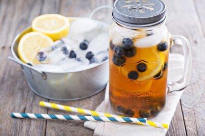 Adesivo Chá gelado com limão e blueberries