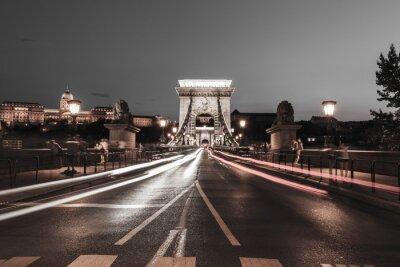Adesivo Chain bridge à noite