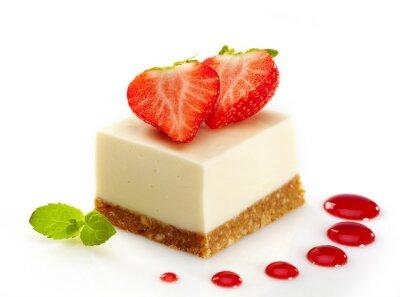 Adesivo cheesecake com morangos