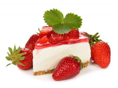 Adesivo cheesecake de morango