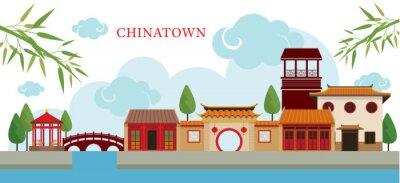 Adesivo Chinatown Building and Park, Viagem, Cidade Pequena, Características culturais